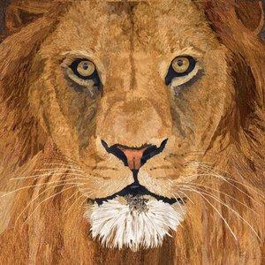 Sauvage Lion Cocktail Napkin Set 25 x 25 cm