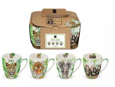 Mug Set - Tropical Animal