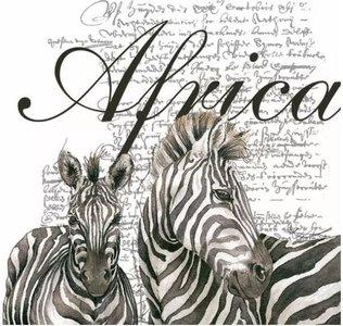 Africa White Napkin Set 33 x 33 cm