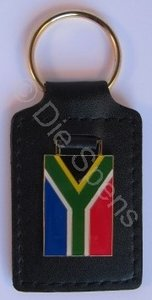 South African Leather Back Keyring