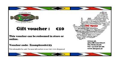 Die Spens Gift Voucher - €10