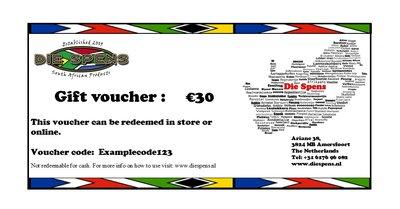 Die Spens Gift Voucher - €30
