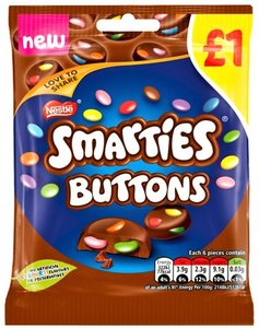 Nestlé Smarties Buttons - (UK)