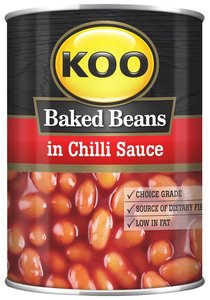 Koo Baked Beans in Hot Chilli Sauce