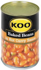Koo Baked Beans in Hot Curry Sauce