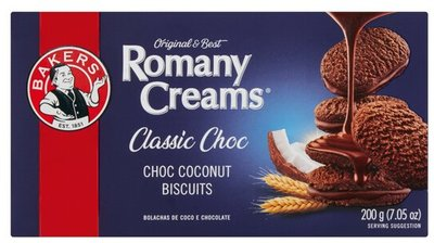 Bakers Romany Creams Classic Choc Biscuits