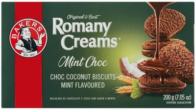 Bakers Romany Creams Mint Choc Biscuits
