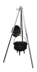 LK's Campfire Tripod Stand (Foldable) - Place separate order.