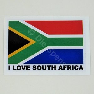 I love South Africa Sticker 9.0 x 6.0 cm