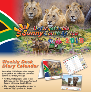 Desk Diary Calendar 2019 - Unforgettable Sunny South Africa