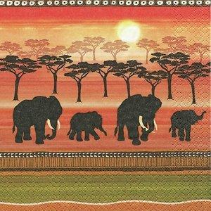African Spirit Napkin Set 33 x 33 cm