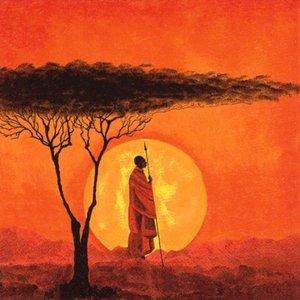 African Sunset Napkin Set 33 x 33 cm