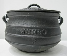 Cast Iron Pot Plat Potjie Size 3