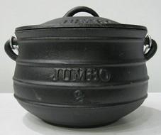 Cast Iron Pot Plat Potjie Size 2