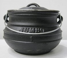Cast Iron Pot Plat Potjie Size 1
