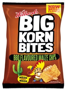 Willards Big Korn Bites BBQ Flavoured Maize Chips