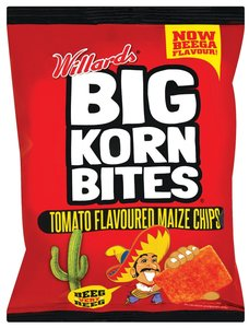 Willards Big Korn Bites Tomato Flavoured Maize Chips