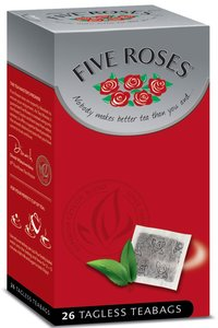 Five Roses Tea 26 Tagless Teabags