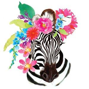 Flora Zebra Napkin Set 33 x 33 cm