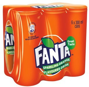 Fanta Orange 6 Pack