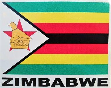 Zimbabwe Flag Sticker 12 x 9.5 cm