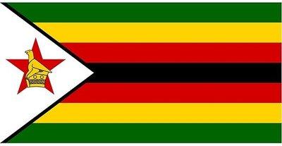 Zimbabwe Flag Sticker 8.7 x 5.9 cm